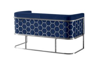 An Image of Alveare Two Seat Sofa - Blue