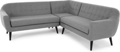 An Image of Ritchie Corner Sofa, Pearl Grey