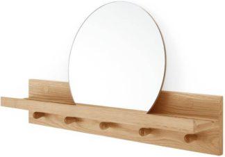 An Image of Penn Wall Shelves and Mirror, Oak