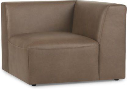 An Image of Juno Modular Corner End Seat, Columbus Brown Leather
