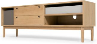 An Image of Campton Wide TV Stand, Oak