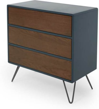 An Image of Ukan Chest of Drawers, Blue and Dark Stain Oak