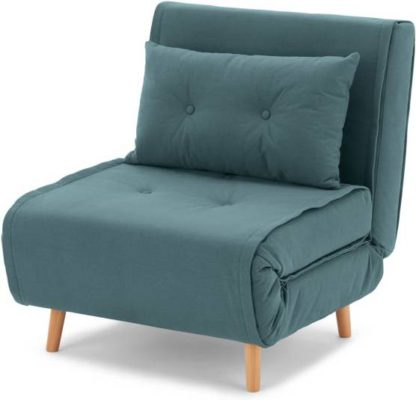 An Image of Haru Single Sofa Bed, Sherbet Blue