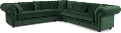 An Image of Branagh Corner Sofa, Pine Green Velvet