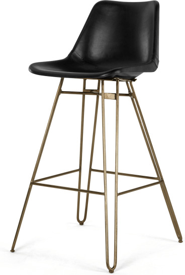 An Image of Kendal Barstool, Black and Brass