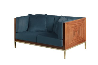 An Image of Ravello Two Seat Sofa - Wedgewood