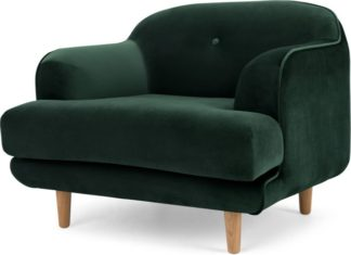 An Image of Gracie Armchair, Pine Green Velvet