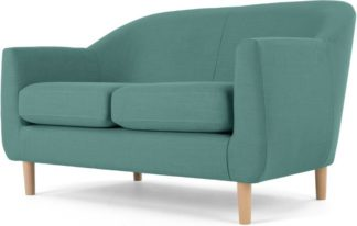 An Image of Tubby 2 Seater Sofa, Soft Teal