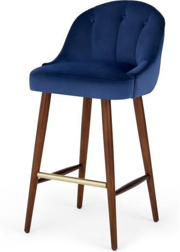 An Image of Margot Barstool, Electric Blue Velvet