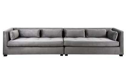 An Image of Berkley 6 seat Sofa / Double Day Bed - Dove Grey