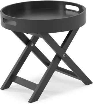 An Image of MADE Essentials Liam Side Table, Grey