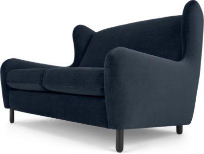 An Image of Rubens 2 Seater Sofa, Sapphire Blue Velvet