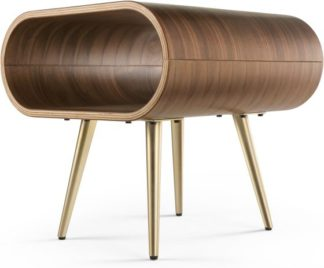 An Image of Hooper Storage Side Table, Natural Walnut and Brass