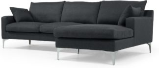 An Image of Mendini Right Hand Facing Chaise End Corner Sofa, Anthracite Grey