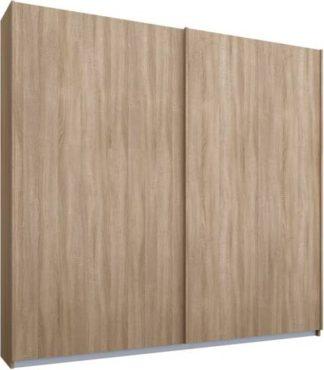 An Image of Malix 2 door 181cm Sliding Wardrobe, Oak frame,Oak doors, Standard Interior