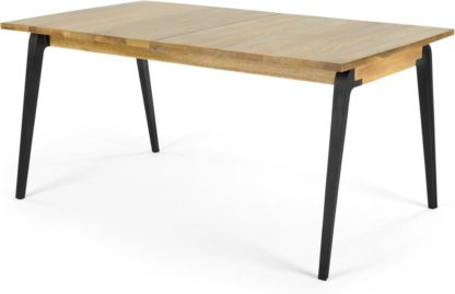 An Image of Lucien 8 Seat Extending Dining Table, Light Mango Wood