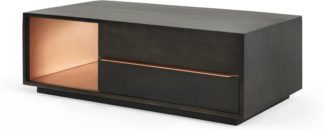 An Image of Anderson Coffee table, Mocha Mango Wood and Copper