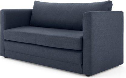 An Image of MADE Essentials Eli Sofa Bed, Quartz Blue
