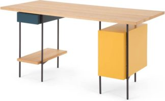 An Image of Coby Desk, Multi Colour and Oak