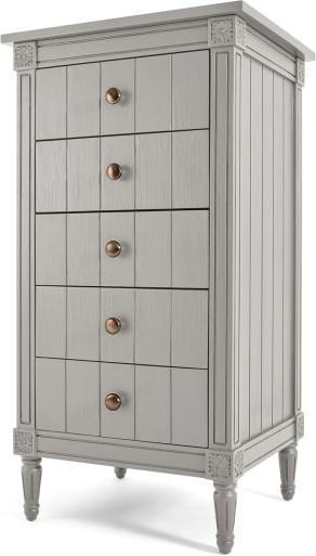 An Image of Bourbon Vintage Vanity Chest of Drawers, Grey