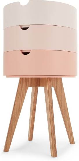 An Image of Cairn Bedside Table, Pink
