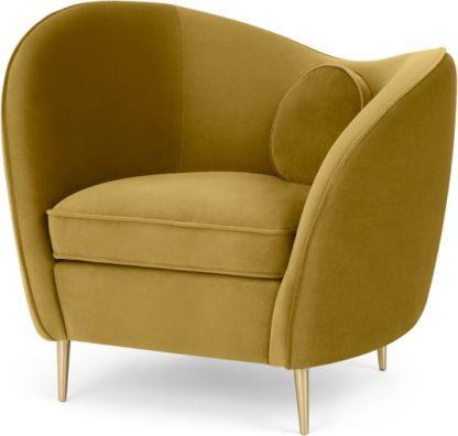 An Image of Kooper Accent Armchair, Vintage Gold Velvet