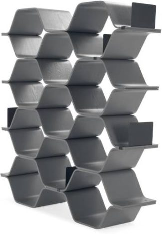 An Image of Polygon Shelving Unit, Grey