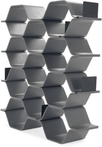 An Image of Polygon Shelving Unit, Grey
