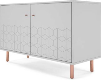 An Image of Hedra Sideboard, Grey and Copper