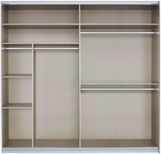 An Image of Malix 225cm Sliding Wardrobe Classic Interior Package