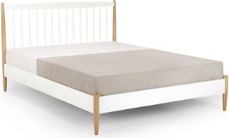 An Image of Willow Kingsize Bed, Oak and White