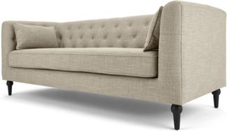 An Image of Flynn 3 Seat Sofa, Taupe Linen Mix