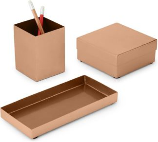 An Image of Normos Metal Stationery Set, Copper