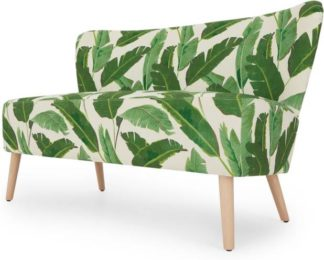 An Image of Charley 2 Seater Sofa, Leaf Print