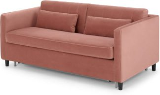 An Image of Barrow Sofa Bed, Blush Pink Velvet