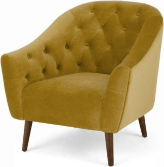 An Image of Tallulah Armchair, Vintage Gold Velvet