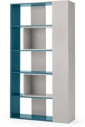 An Image of Made Essentials Yumi Extending Shelving, Grey and Teal