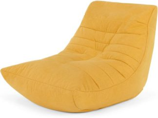 An Image of Audrie Bean Bag Chair, Yolk Yellow