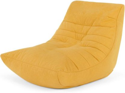 An Image of Audrie Bean Bag Chair, Yolk Yellow
