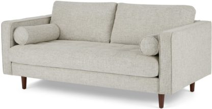 An Image of Scott Large 2 Seater Sofa, Ivory Weave