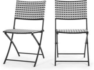An Image of Set of 2 Pya Dining Chair, Monochrome