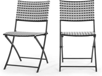 An Image of Set of 2 Pya Dining Chair, Monochrome