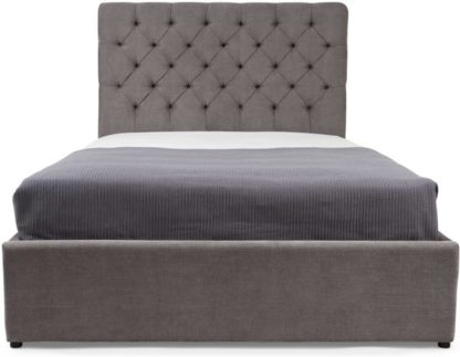 An Image of Skye Super Kingsize Bed with Storage, Pewter