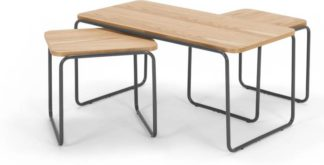 An Image of Hill Coffee and Set of 2 Nesting Side Tables, Ash and Grey