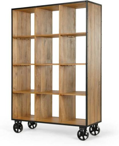 An Image of Humphrey Large Shelving Unit, Mango Wood