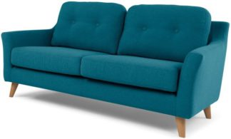 An Image of Rufus 2 Seater Sofa, Rich Azure