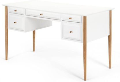 An Image of Willow Desk, Oak and White