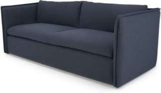 An Image of MADE Essentials Paven 3 Seater Sofa, Mina Blue