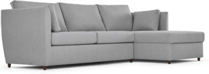 An Image of Milner Right Hand Facing Corner Storage Sofa Bed with Foam Mattress, Granite Grey
