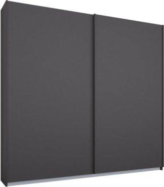 An Image of Malix 2 door 181cm Sliding Wardrobe, Graphite Grey frame,Matt Graphite Grey doors, Standard Interior